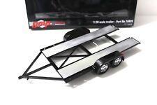 1:18 GMP Trailer with tire shelf/ Regal black NEW bei PREMIUM-MODELCARS