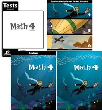 BJU Press - Math 4 Student Worktext, Reviews, Manipulative Packet & Tests