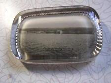 Vintage Old La Pointe Mission Glass Picture Paper Weight Bayfield WI Wisconsin