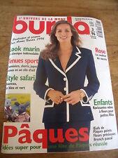 MAGAZINE BURDA LOOK MARIN STYLE SAFARI TENUES SPORT UN PATRON SIGNE ZAPA 1996