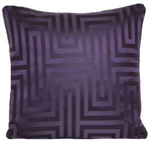 "Purple Cushion Cover Geometric Woven Fabric Osborne & Little 16"" CLEARANCE"