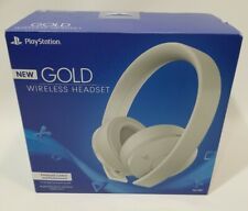Sony PlayStation GOLD Wireless Headset 7.1 Virtual Surround Sound PS4 White NEW
