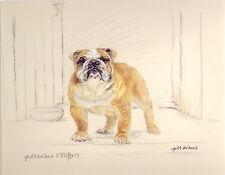 BULLDOG ENGLISH BRITISH DOG FINE ART LIMITED EDITION PRINT