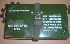 Ex MOD fuse box case, metal green, NSN 5820 99 949 1009