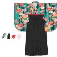 Traditional Japanese Womens Kimono HAKAMA Set of 4 Pcs XL 14 Fast Ship Japan EMS
