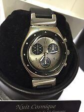 Swatch Irony Chrono Nuit Cosmique VENDOME SPIGA SPECIAL RARE 12 Diamonds YMS106p