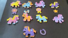 FOAM STICKERS/TOPPERS   -    PONY X 14  -   CRAFT CLEAROUT LITTLE GIRLS CARDS