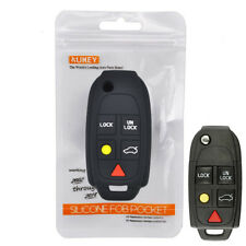 Silicone Key Cover Remote Case For Volvo XC90 S80 XC70 S60 V70 Fob Holder