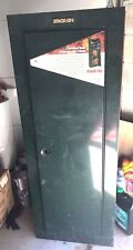 used Stack-On GCG-908 Steel 8 Gun Security Cabinet, Green missing locks see pics