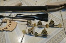 One set 5strings 3/4 Upright Bass part:(neck,fingerboard,bridge,tailpiece,pegs