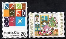 España estampillada sin montar o nunca montada 1989 SG3042-43 Navidad