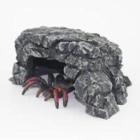 Amphibians Reptile Rock Feeder Hide Cave Reptile Rock Ornament Decoration