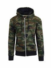 Men's Heavy Weight Fleece Lined Hoodie Jacket -Full Zip- S-XXL