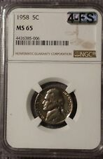 1958 JEFFERSON NICKEL NGC MS 65 AND MAC CERTIFIED FOUR FULL STEPS!!