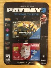 Payday 2: The Ultimate Steal Edition  (PC, 2014)  Limited Edition Brand New