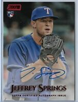 2019 Topps Stadium Club Jeffrey Springs On Card Rookie Auto Red Foil 09/50 SP