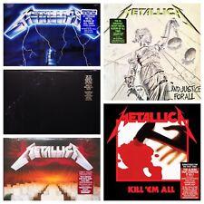 Metallica Lot of 5 Black Album Kill 'em All + [Latest Pressings] LP Vinyl Record