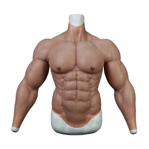 KnowU Upgrade Silicone Muscle Suit Fake Chest For Cosplay Stronger