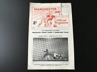 MANCHESTER UNITED YOUTH V SUNDERLAND YOUTH 1962/63