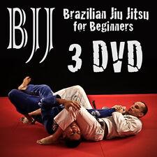 Brazilian Jiu-Jitsu Techniques  3 DVD MARTIAL ARTS BEGINNERS & ADVANCED BJJ