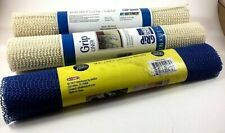 x3 Pack, Grip Liners, Shelf or Drawer, Size 12 in x 60 in, Color Natural & Blue