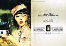PUBLICITE ADVERTISING 124  2006  LAVAZZA CLUB  café FIRST CLASS expresso ( 2p)