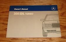 Original 1987 Mercedes Benz 300 SDL Turbo Owners Operators Manual 87