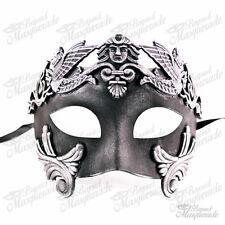 Men Egyptian Greek Venetian Masquerade Mask - Roman Warrior - Vintage Silver