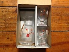 2003 New! Excellent! Kitty Glass Set Hello Kitty Sake Bottle & Cups