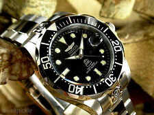 Invicta 3044 Grand Pro Diver Black Dial Stainless Steel Men's 300M Watch