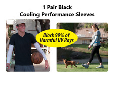 Cooling Arm Sleeves ~ 1 Pair Quality Black ~ Block Uv Rays ~ Performance Sleeves
