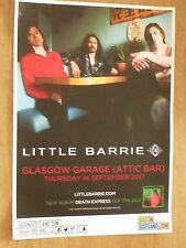 Little Barrie - Glasgow sept. tour concert gig poster