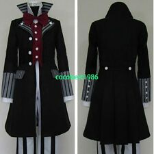 Black Butler Kuroshitsuji Undertaker Cosplay Costume all size coat pants shirt