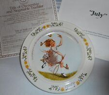 1984 July Sarah Stilwell Weber Calendar Collection Collector Plate