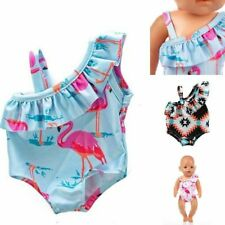 Doll Bikini 43cm New Swim Clothes Summer Wear Swimsuit Born Kids Toy Outfit Baby