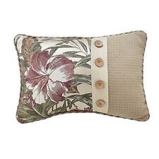 Croscill Anguilla Boudoir Throw Pillow in Taupe/Green