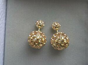 Christian Dior Mise En Dior Tribal  Yellow Сrystal Gradient Earrings