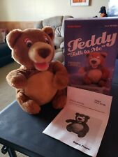 Vintage Radio Shack Teddy Bear Talk To Me Battery Operated With Box Works 1988
