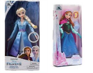 Disney - Elsa singende Puppe + Anna mit Anhänger Die Eiskönigin Frozen SET A