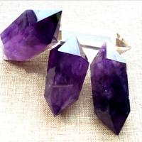 Natural Purple Amethyst Quartz Crystal Point Wand Obelisk Healing DT Tower 4-5cm