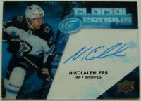 2017-2018 Upper Deck Ice Glacial Graphs Nikolaj Ehlers Autographed Card