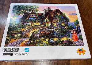 HUADADA House Cottage Jigsaw Puzzle for Grown Ups 1000 Piece Beautiful Garden