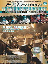 "Extreme Independence"" Drumming Method Music Book/Cd-Drums-Instruction al-New Sale"
