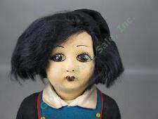 "13"" Vtg Antique 1920s 1930s Lenci-Type Felt Cloth Doll W/ Tags Italian Soldier?"