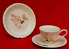 MARKS AND SPENCER EDWARDIAN LADY CUP SAUCER & TEA PLATE SET - PERFECT CONDIT!