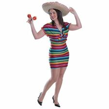 Ladies Mexican Fancy Dress Costume Lady Mexico Party Festival Spanish Outfit