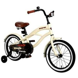 """12"""" 14"""" 16"""" Kids Cruiser Bike with Training Wheels for Ages 2-6 14 Inch Ivory"""