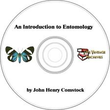 An Introduction to Entomology Vintage Book on CD- John Henry Comstock