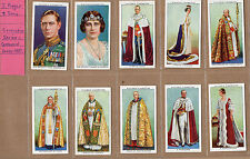 Players Cigarettes Coronation Series 1937 complete set of 50 in plastic sleeves