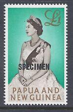 1963 PAPUA NEW GUINEA £1 QUEEN OVERPRINTED SPECIMEN (13½mm) FINE MINT MUH/MNH
